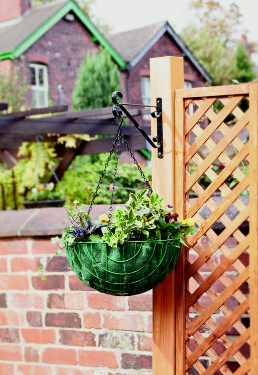 "Ambassador Hanging Basket Bracket - 35cm/14"" Black"