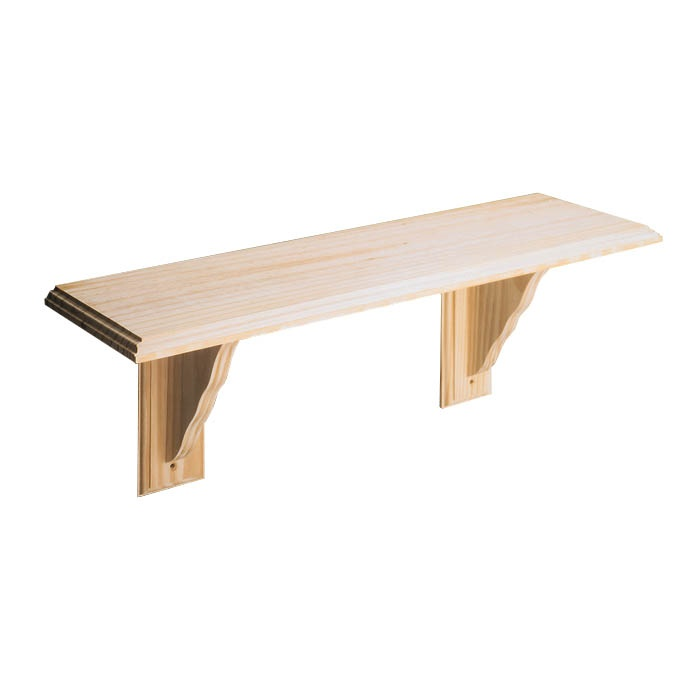 Core Natural Wood Shelf Kit - Pine 1185mm
