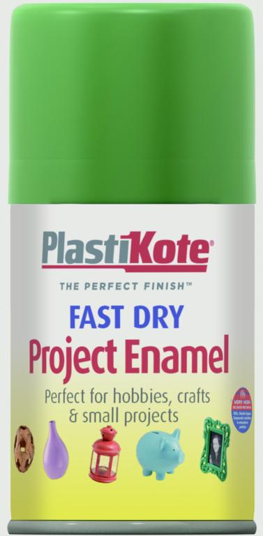 PlastiKote Fast Dry Enamel Aerosol Paint - Garden Green - 100ml