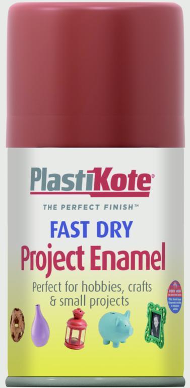 PlastiKote Fast Dry Enamel Aerosol Paint - Insignia Red - 100ml