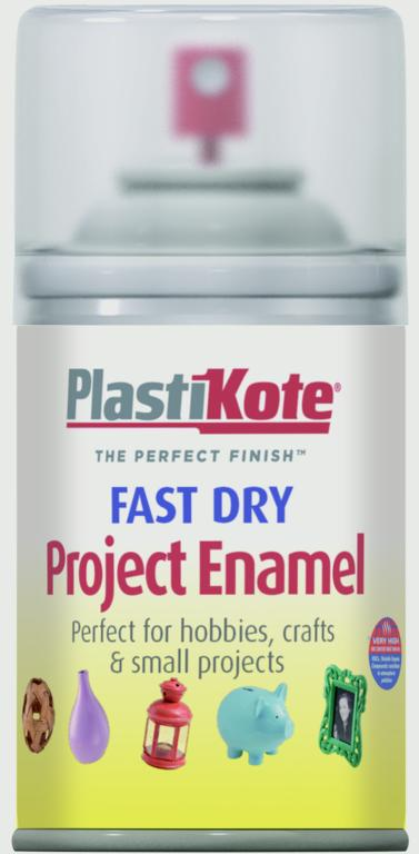 PlastiKote Fast Dry Enamel Aerosol Paint - Clear - 100ml