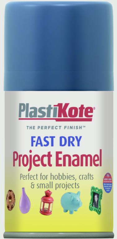 PlastiKote Fast Dry Enamel Aerosol Paint - Harbour Blue - 100ml