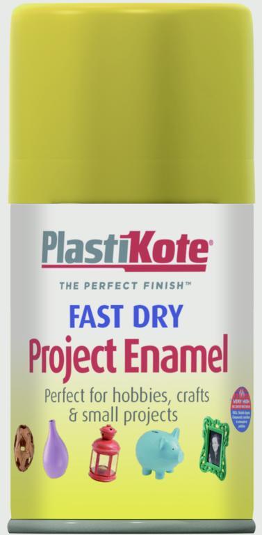 PlastiKote Fast Dry Enamel Aerosol Paint - Brass - 100ml