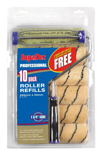 """SupaDec 10 Pack Roller Refill - 9""""/255mm"""