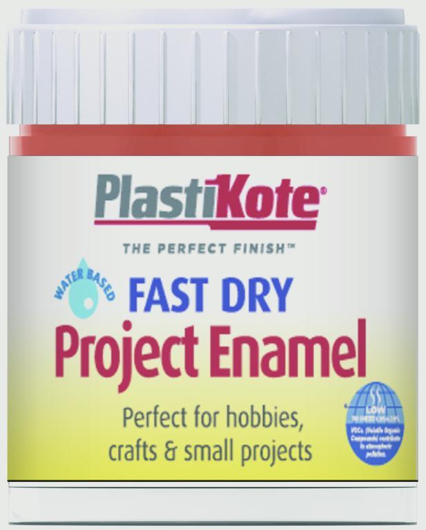 PlastiKote Fast Dry Enamel Brush On - Insignia Red - 59ml Bottle