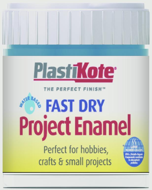PlastiKote Fast Dry Enamel Brush On - Harbour Blue - 59ml Bottle
