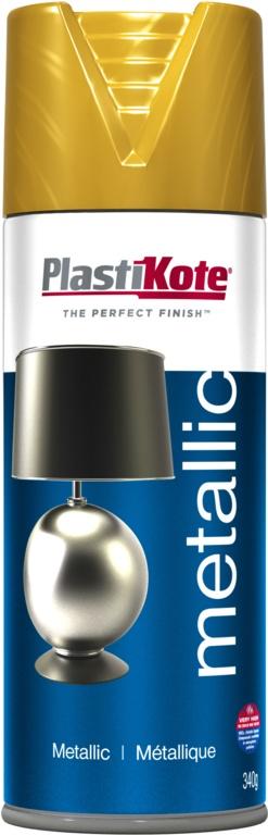 PlastiKote Metallic Paint - 400ml Gold