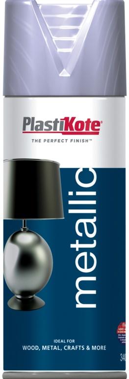PlastiKote Metallic Paint - 400ml Silver