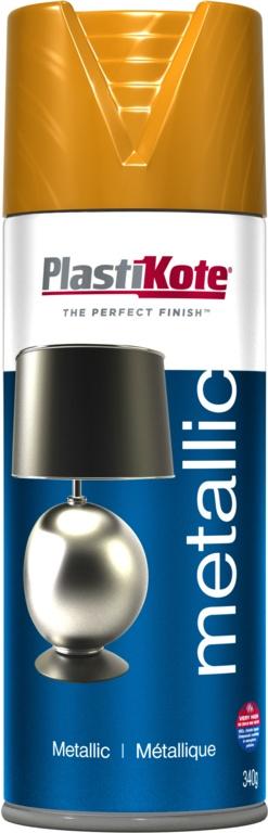 PlastiKote Metallic Paint - 400ml Brass