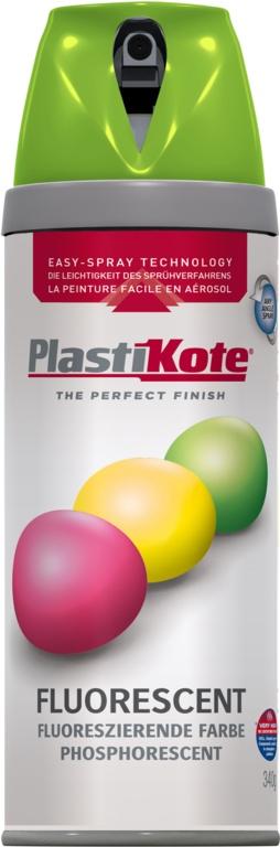 PlastiKote Fluorescent Spray Paint - Green - 400ml