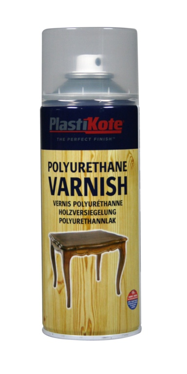 PlastiKote Polyurethane Varnish - 400ml Clear Gloss