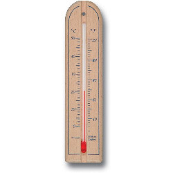 Brannan Short Wall Thermometer - Wood
