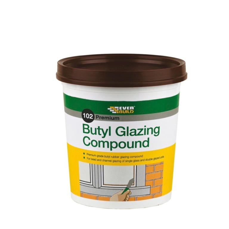 Everbuild 102 Butyl Glazing Compound 2kg - Brown