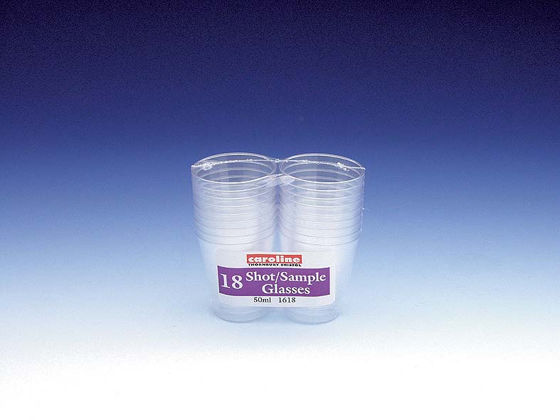 Caroline Shot/Sample Glass - 50ml, 18 Pack