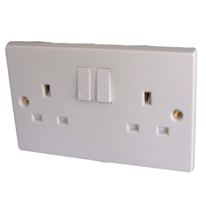 13A, Twin Switched Socket Outlet to BS1363