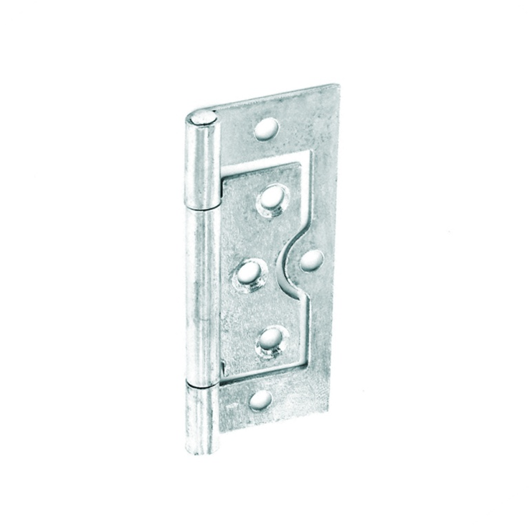 Securit Flush Hinges Zinc Plated (Pair) - 75mm