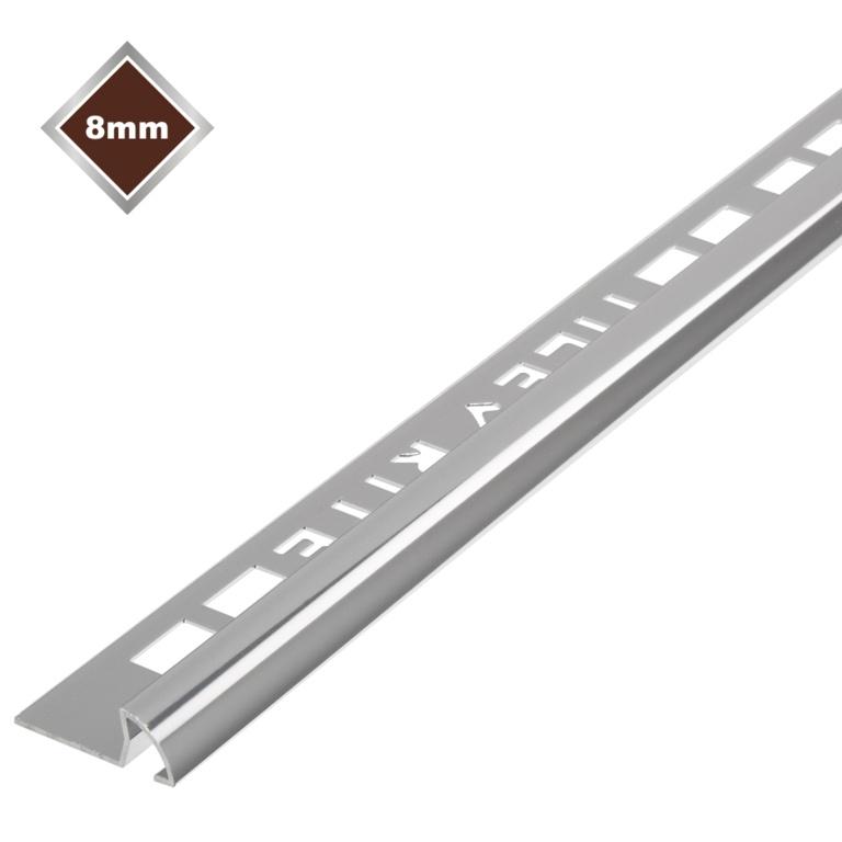 Tile Rite Metal Tile Edging Silver - 8x8mm