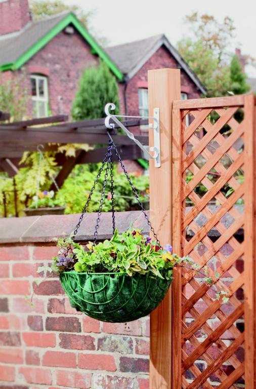 "SupaGarden Hanging Basket Bracket - 30cm/12"" White"