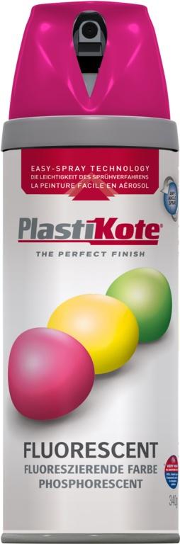 PlastiKote Fluorescent Spray Paint - Pink - 400ml