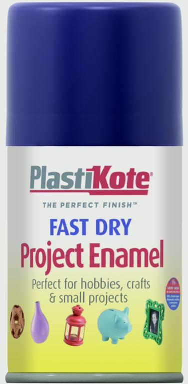 PlastiKote Fast Dry Enamel Aerosol Paint - Metallic Blue - 100ml