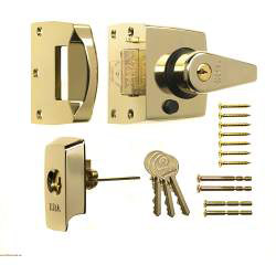Era BS High Security Nightlatch 60mm - Finish: Brass Effect