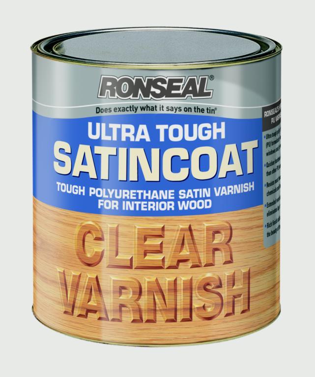 Ronseal Ultra Tough Varnish Satin Coat - 750ml