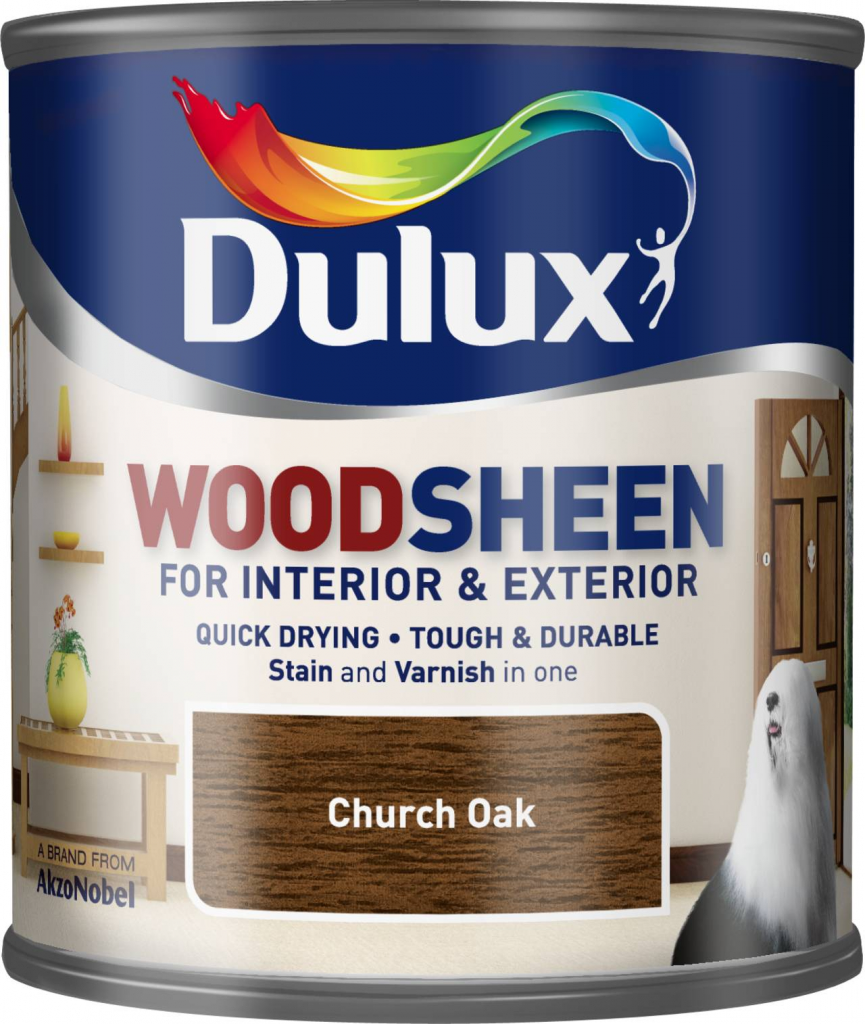Dulux Woodsheen 250ml - Church Oak