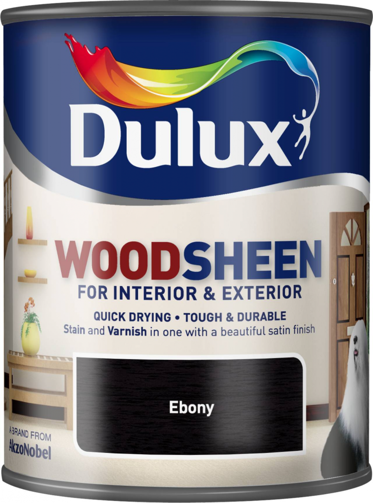 Dulux Woodsheen 750ml - Ebony