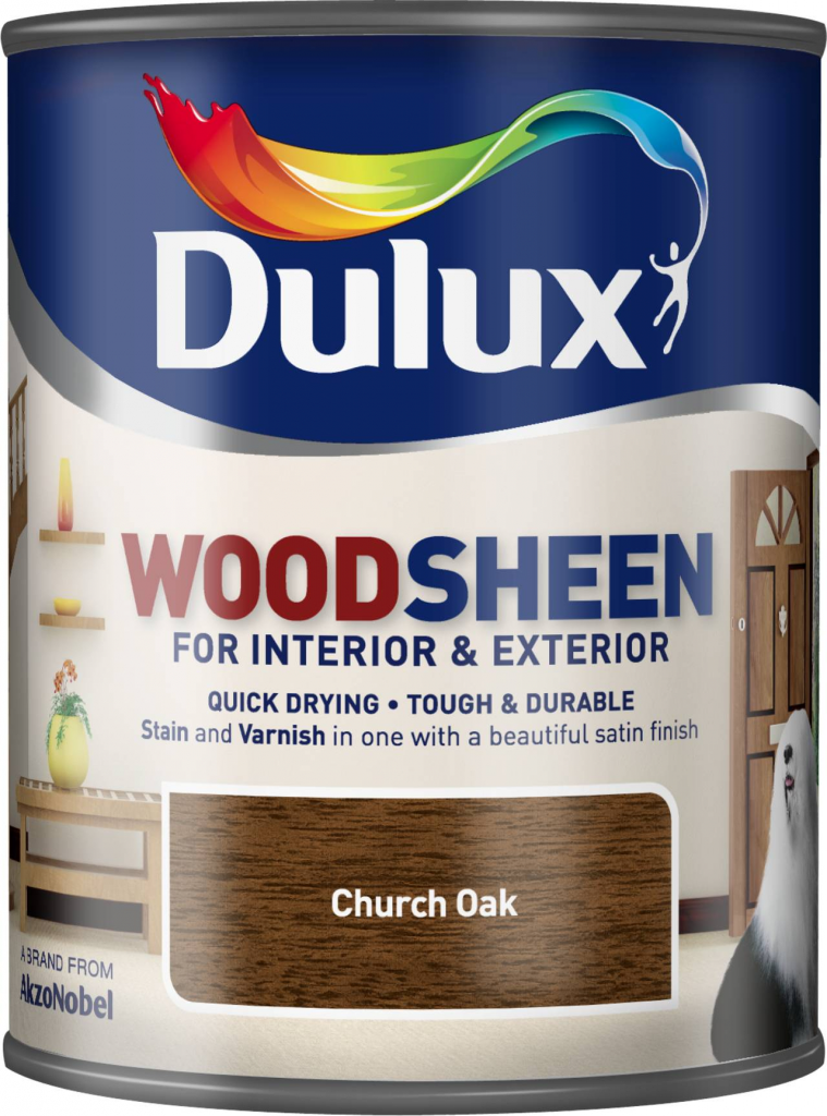 Dulux Woodsheen 750ml - Church Oak