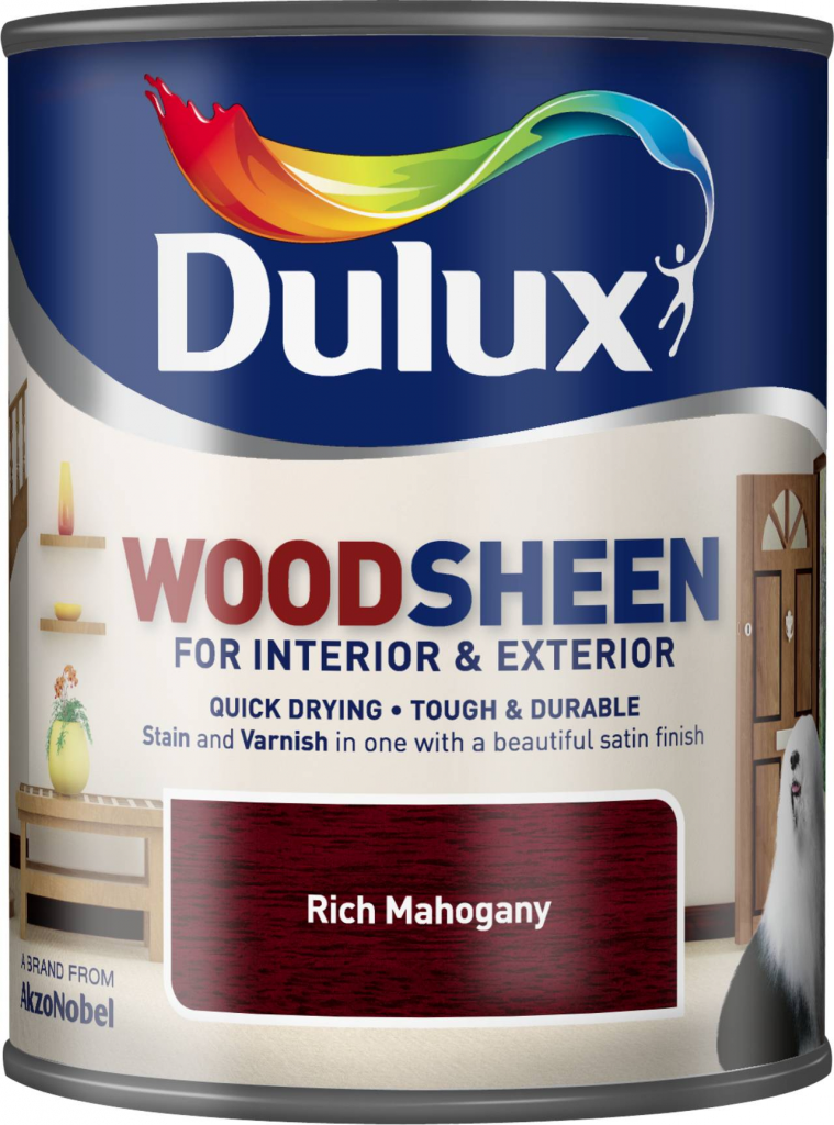 Dulux Woodsheen 750ml - Rich Mahogany