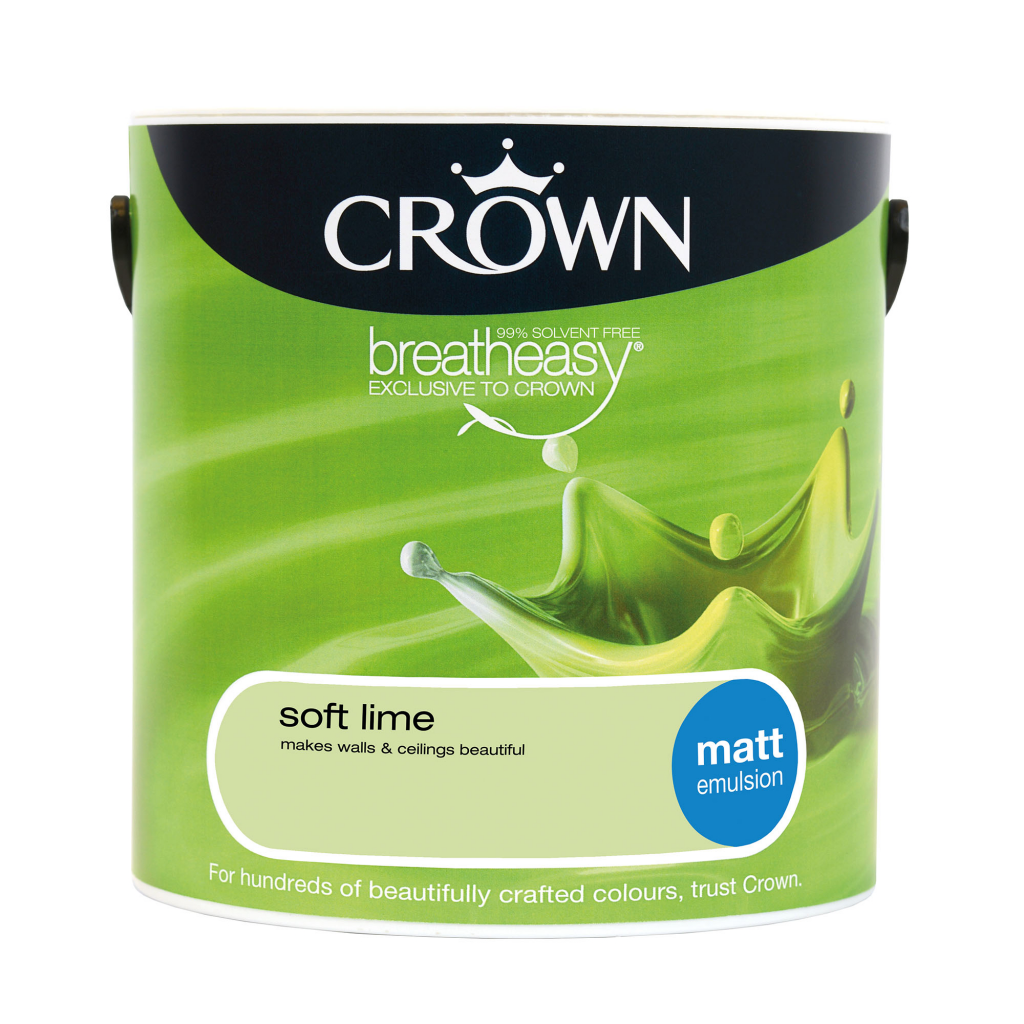Crown Matt Emulsion 2.5L - Soft Lime