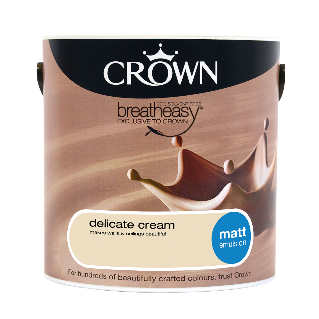 Crown Matt Emulsion 2.5L - Delicate Cream