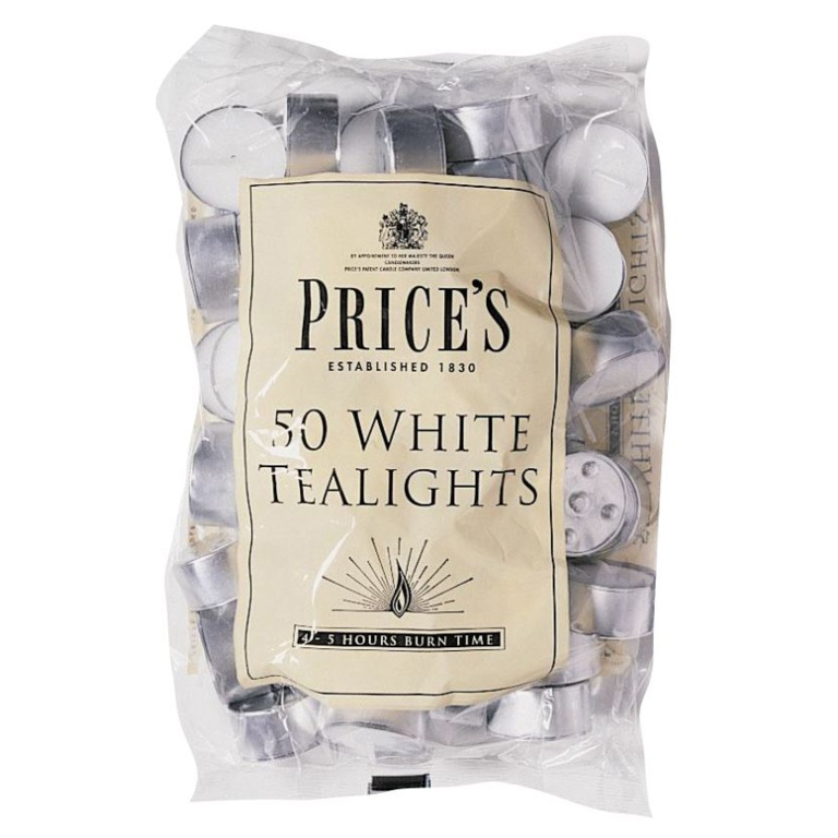 Price S Candles White Tealights Stax Trade Centres