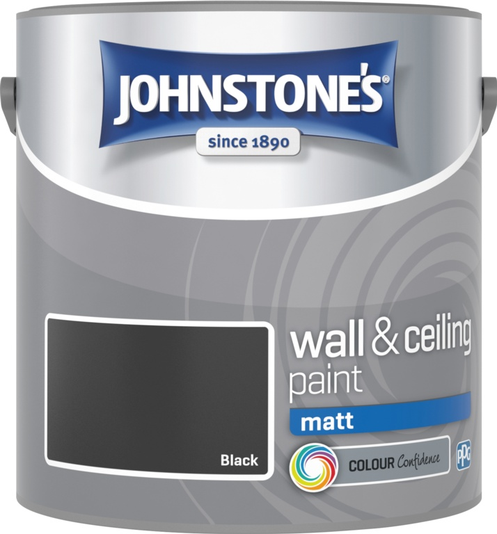 Johnstone's Wall & Ceiling Matt 2.5L - Black