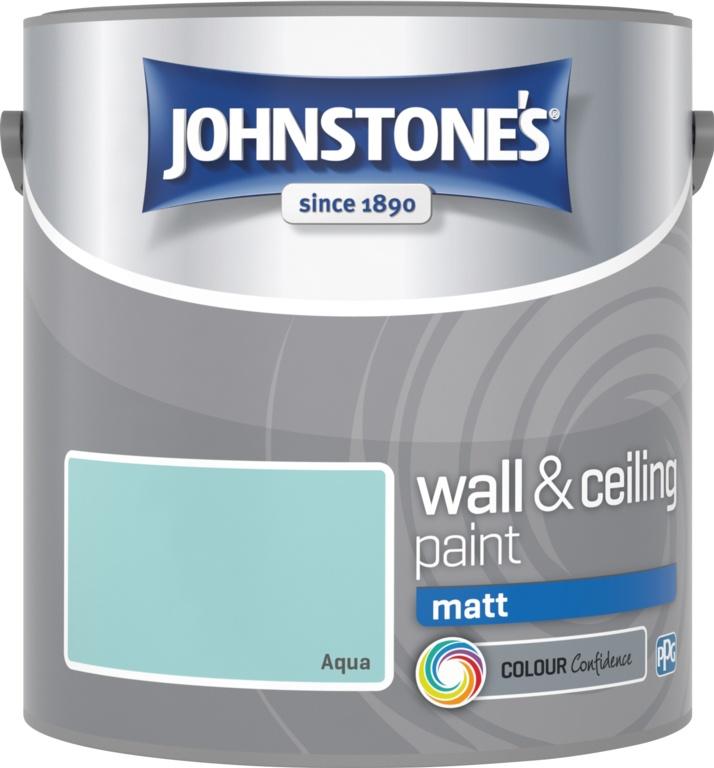 Johnstone's Wall & Ceiling Matt 2.5L - Aqua