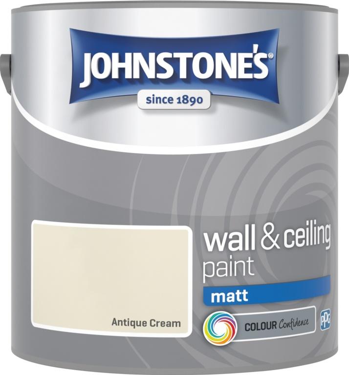 Johnstone's Wall & Ceiling Matt 2.5L - Antique Cream