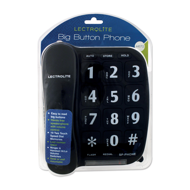 Connect-It Big Button Speaker Phone - Black or White