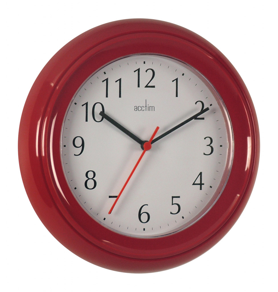 Acctim Wycombe Wall Clock - Red
