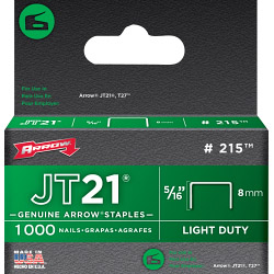 Arrow JT21/T27 Staples 8mm 5/16in (1000)