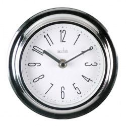 Acctim Riva Wall Clock Chrome