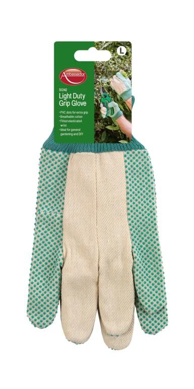 Ambassador Light Duty Grip Glove - PVC dots for extra grip
