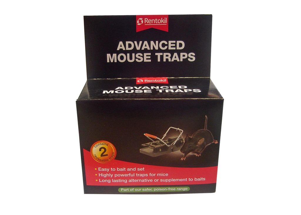 Rentokil Advanced Mouse Trap - Twin Pack