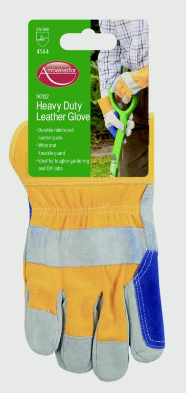 Ambassador Deluxe Heavy Duty Leather Glove - Reinforced Leather Palm