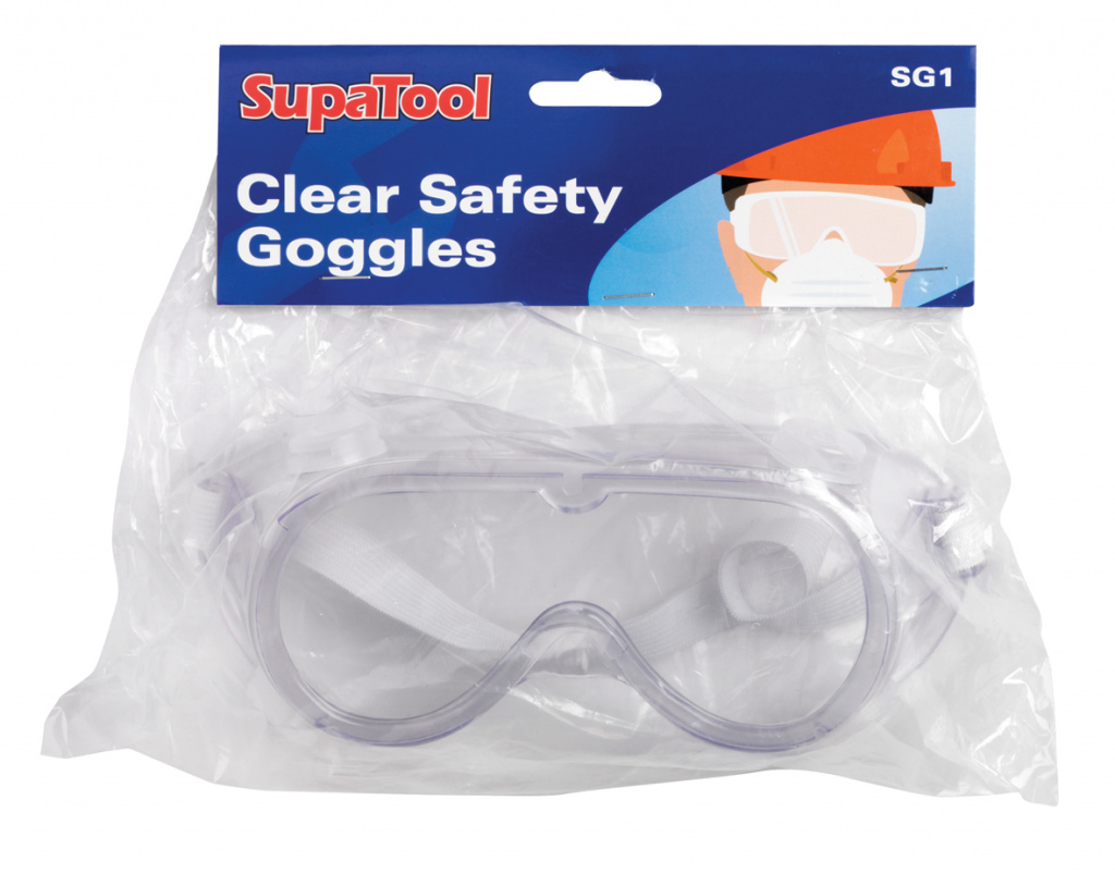 SupaTool Clear Safety Goggles