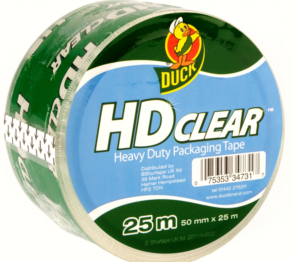 Duck Tape Heavy Duty Clear Packaging Tape - 50mm x 25m