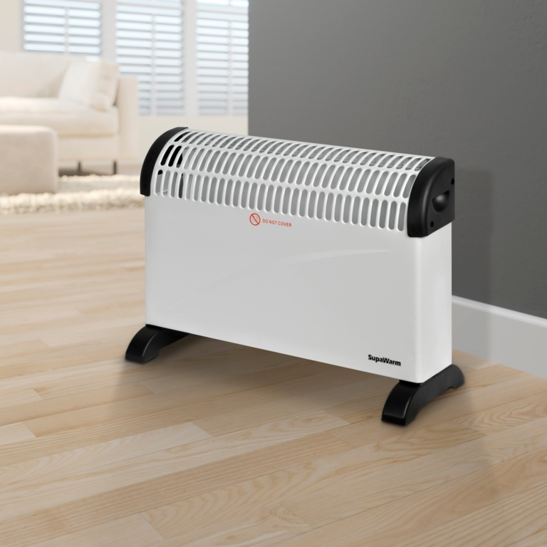 SupaWarm Convector Heater 2000w - Size: 535mm(w)x200mm(d)x385mm(h)