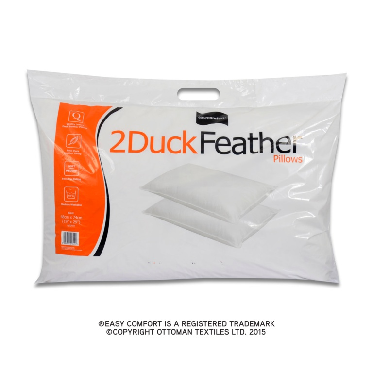 Easy Comfort Twin Duck Feather Pillows