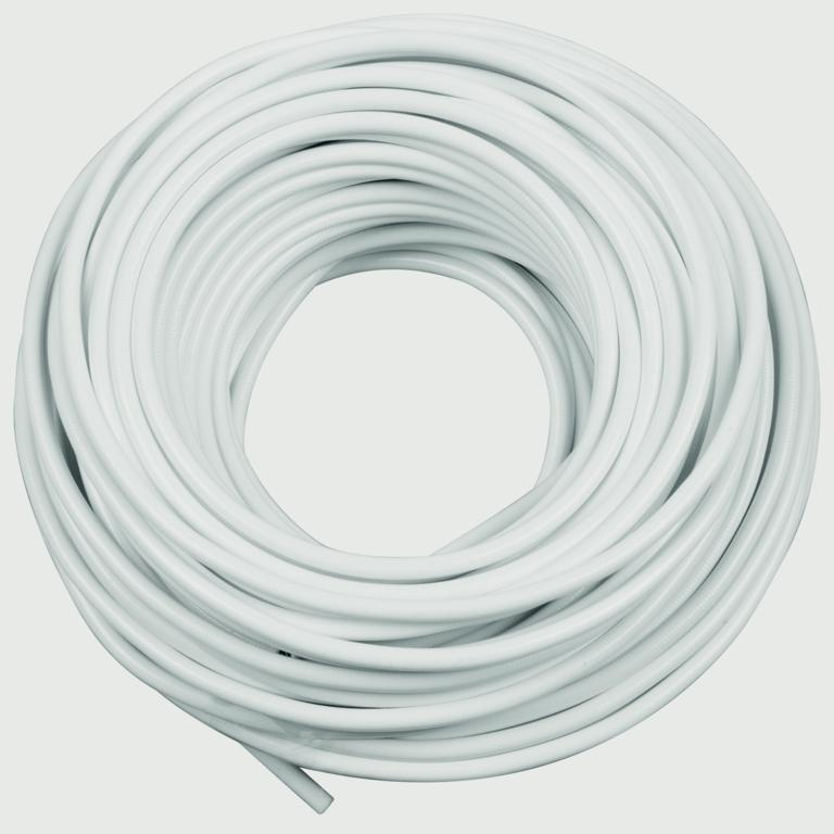 SupaFix Sprung Curtain Wire - 100cm - White Plastic Coated