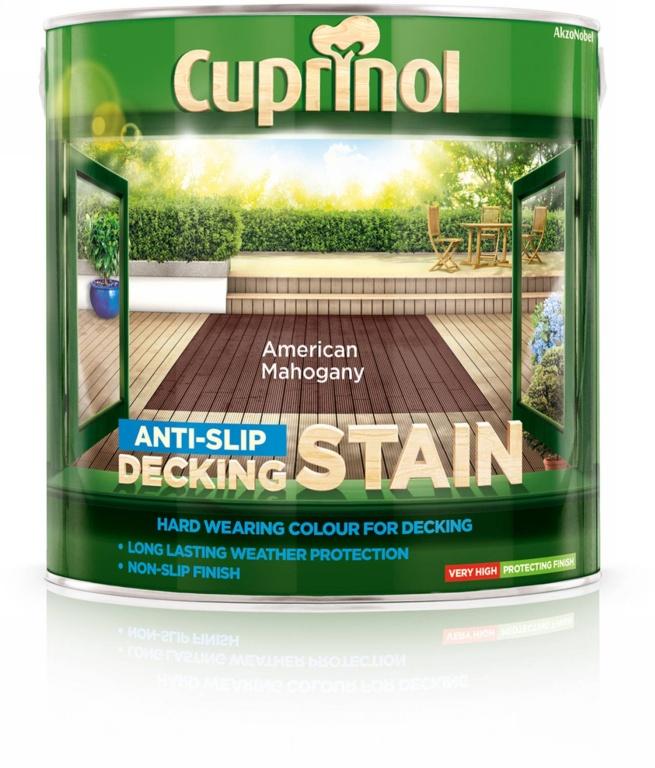 Cuprinol Anti Slip Decking Stain 2.5L - American Mahogany