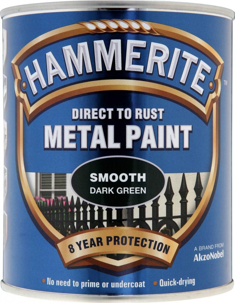 Hammerite Metal Paint Smooth 750ml - Dark Green